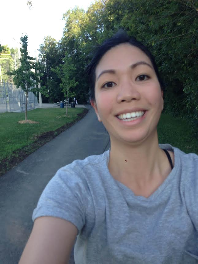 Yes this is a terrible photo. Yes I look like a complete goofball.  No I haven't had this much fun running in a long while.  In the end, despite all the weird glances I received, these photos were totally worth it.