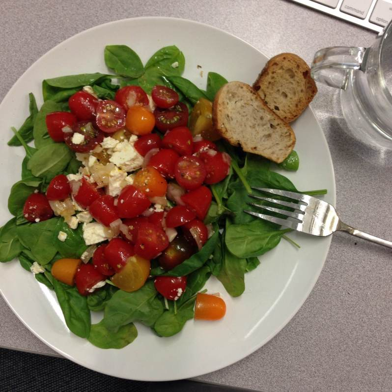 Summertime obsession: tomato salad with crostini